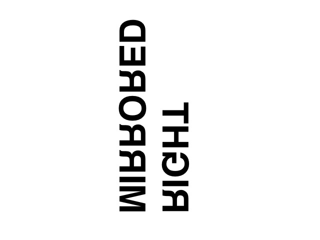 right-mirrored